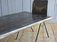 Antique Distressed Zinc Tops are made to measure here at UKAA