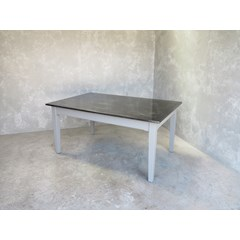 Antique Finish Zinc Table With Tapered Legs