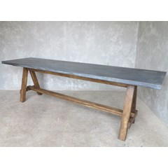 Antique Finish Zinc Top Table