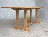 Antique Refectory Style Solid Oak Dining Table