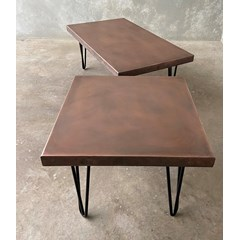 Antiqued Copper Coffee Tables