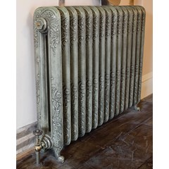 Antiqued French Grey Cast Iron Radiator