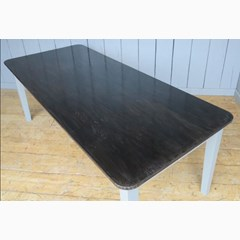 Antiqued Natural Zinc Top Table