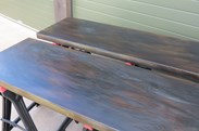 Bespoke Antiqued Zinc Worktops Made at UKAA