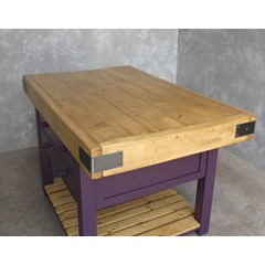 Bespoke Made Butchers Block Top And Base