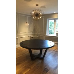 Bespoke Made Round Wooden Table