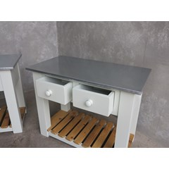 Bespoke Made Zinc Top Console Tables