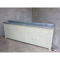 Bespoke Made Zinc Top Side Unit