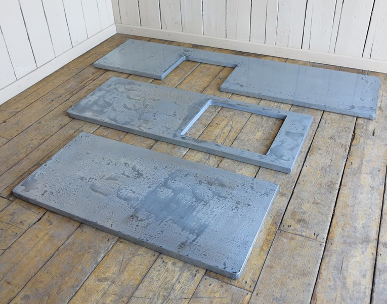 Bespoke Zinc Distressed Antique Kitchen Worktops