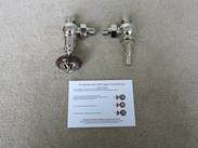 Buckingham Style Nickel Finish Valves