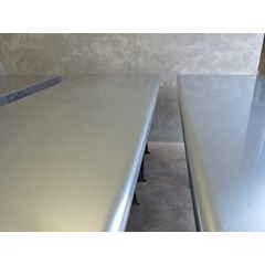 Bullnose Edge Finish Zinc Bar Tops