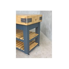 Butchers Block With Handmade Wooden Base
