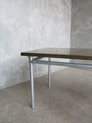 Buy Brass Top Galvanised Metal Industrial Tables