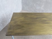 Buy Brass Top Galvanised Metal Industrial Tables at UKA