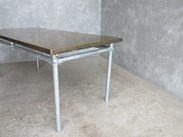 Buy Brass Top Tables with Galvanised Steel Base