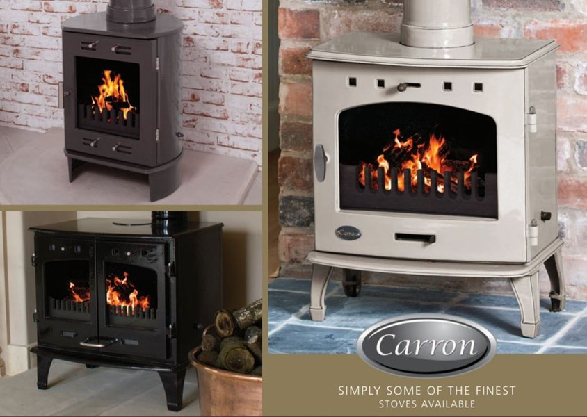 Carron Enamel Log Burners Available at UKAA