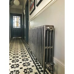 Carron Hand Burnished Cast Iron Radiator Fitted