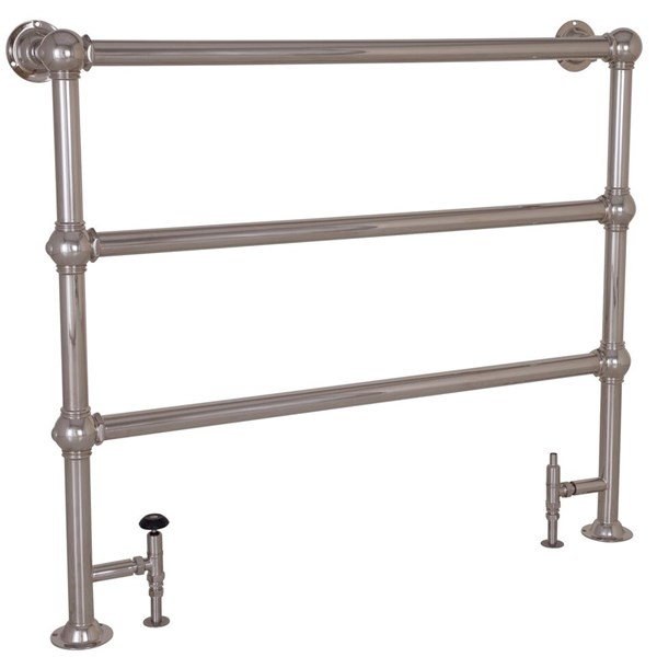 Carron Large Colossus 3 Bar Nickel Floor Mounted Dual Fuel Towel Rail