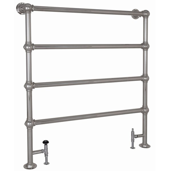 Carron Large Colossus 4 Bar Chrome Floor Mounted Dual Fuel Towel Rail