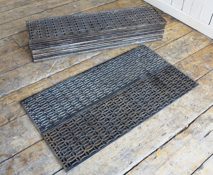 Victorian Old Cast Iron Church Floor Grilles Grids