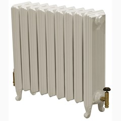 Cast Iron Parchment White Finish Radiator