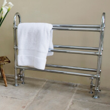 View and Buy Traditional Towel Rails, Victorian Towel Warmers and Period Style Bathroom Radiators Available in Chrome, Nickel or Copper at UKAA