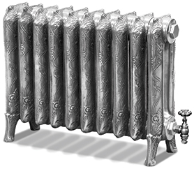 Ribbon 500mm Tall Cast Iron Radiator
