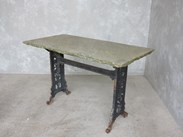 Cast Iron Table Base and Stone Top