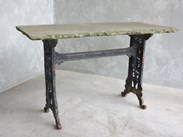 Cast Iron Table Base and Stone Top For Sale