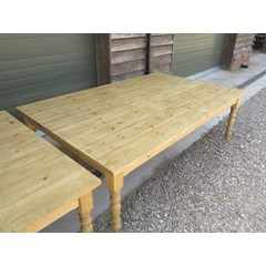 Chunky Farmhouse Table With Turned Legs