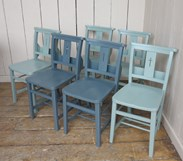 Church chairs painted at UKAA
