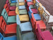 Church Chairs With Bible Backs Painted at UKAA