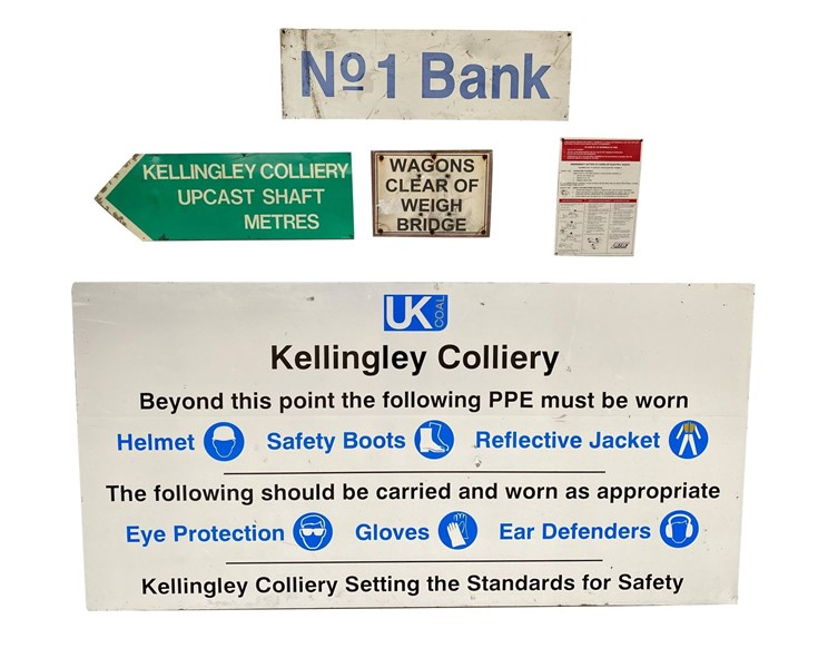 Collection of Kellingley Colliery Signs