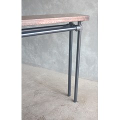 Copper Console Table With Metal Legs
