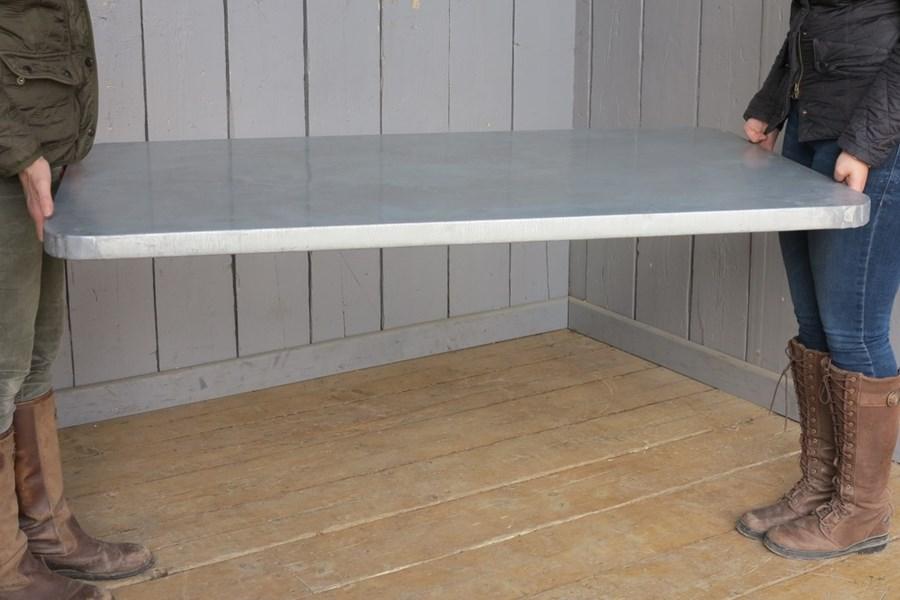 Distressed Antiqued Natural Zinc Worktop