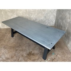 Distressed Finish Zinc Dining Table