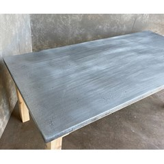Distressed Finish Zinc Table Top