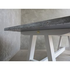 Distressed Zinc A Frame Kitchen Table