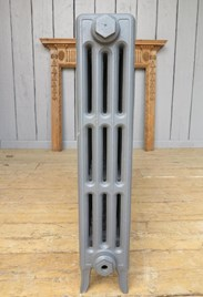 End on view of Carron Victorian 4 Column Cast Iron Radiator - 14 Sections Long - 760mm Tall x 140mm Deep