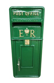 ERII Post Box Painted in Dulux Woodland Fern