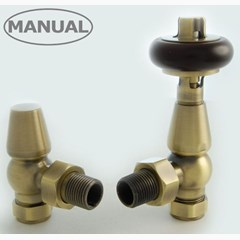 Faringdon Antique Brass Manual Valves