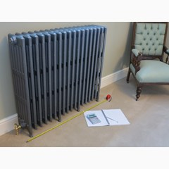 Fitted Foundry Grey Finish Cast Iron Radiator