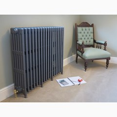 Foundry Grey Finish 920mm Tall Victorian Style Radiator