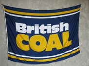 Genuine NCB British Coal Flag