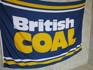 Genuine Relcaimed British Coal Flag