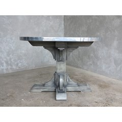 Gothic Style Zinc Table With Antiqued Base