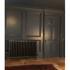 Hand Burnished Finish Cast Iron Radiator Fitted