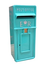 Hand Pained Post Box in Dulux - Turquoise Treasure