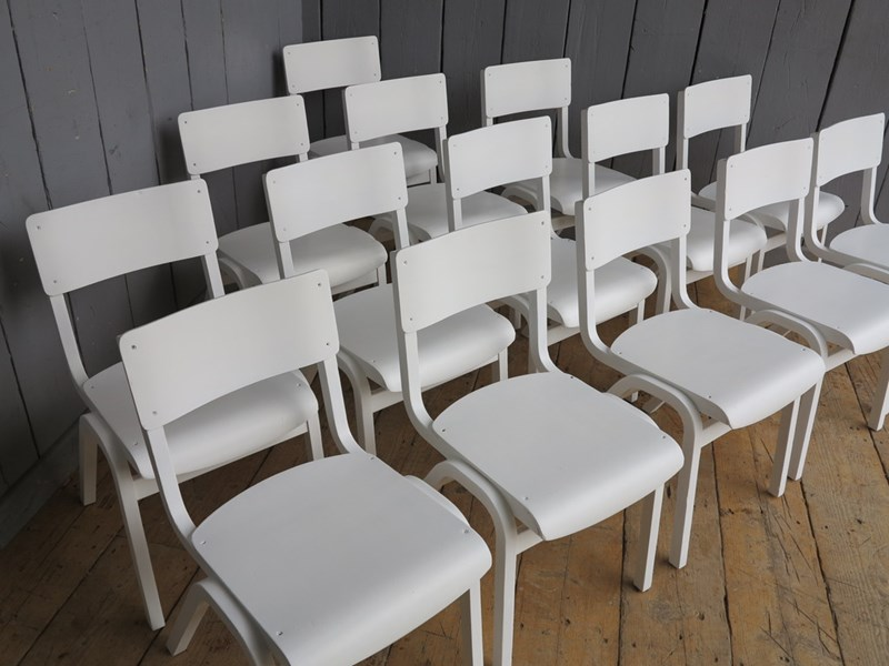 Hand Painted Antique Church Stacking Chairs