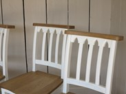 Hand painted Chapel Chairs are available to buy at UKAA